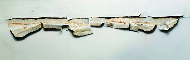 92 Poliedro John Geoffrey Sánchez, oleo sobre tela.